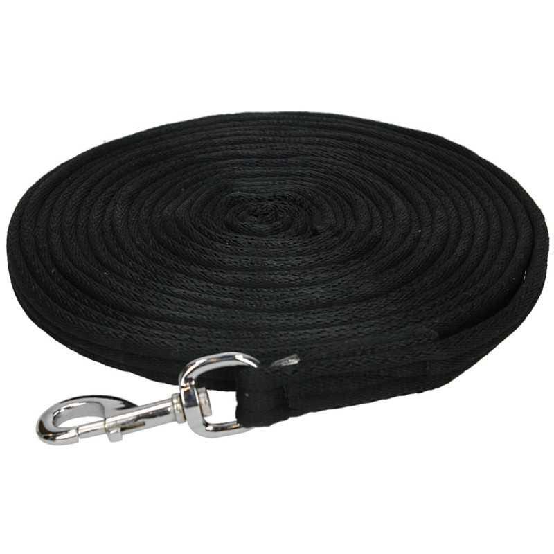 Longeerlijn 8 meter zwart