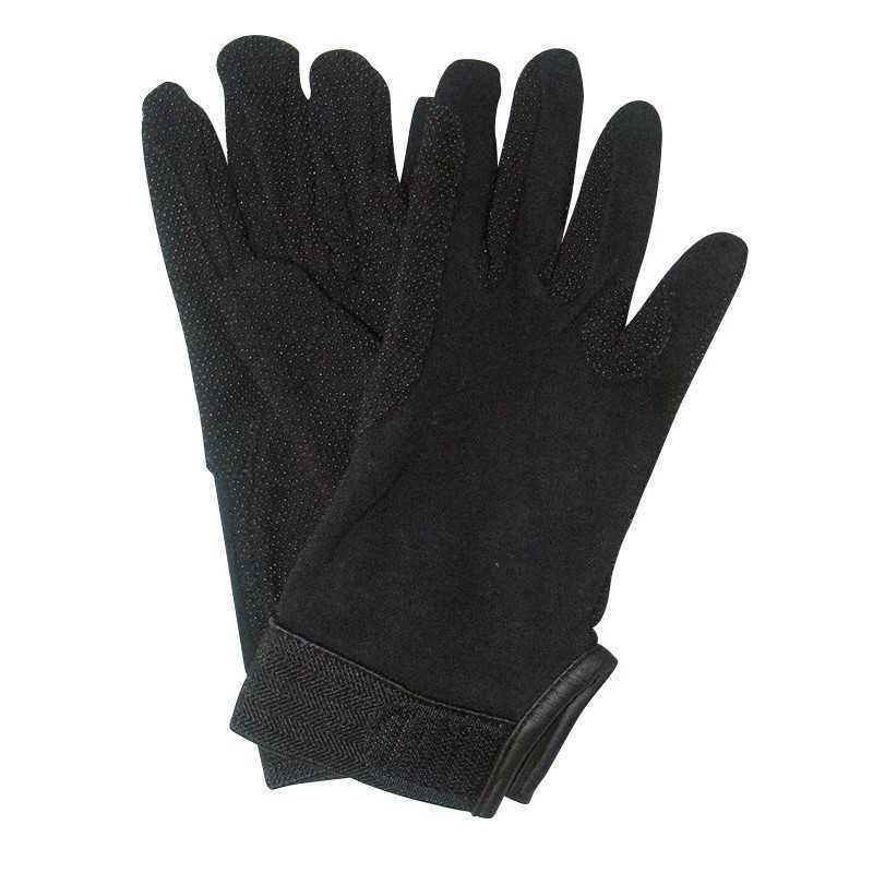 Rijhandschoen Jersey katoen zwart M