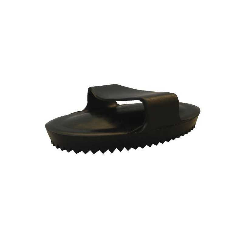 Paardenrosborstel ovaal zwart rubber