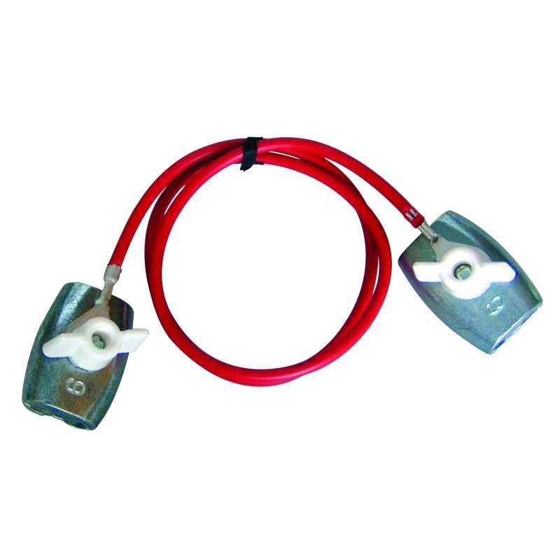 Koordverbindingkabel 65cm RVS