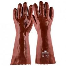 PVC Werkhandschoen rood, 40 cm