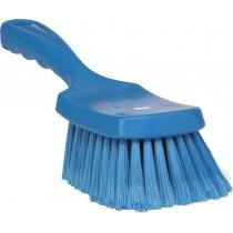 Afwasborstel Vikan korte steel zacht 41933 blauw