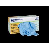 Melkershandschoen AltairMed blauw nitril poedervrij L