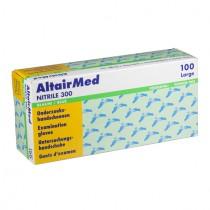 Melkershandschoen lang AltairMed blauw nitril poedervrij XL