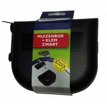 Muizenbox + Klem Zwart