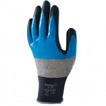 Handschoen SHOWA 376 Multi Fluid Pro zwart/blauw mt M